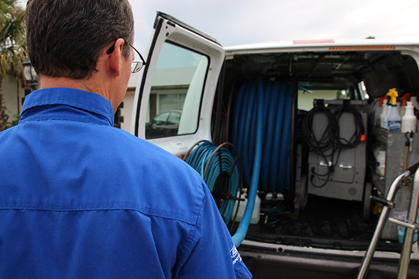truck mounted vacuum systems for rug and carpet cleaning are much stronger than home units