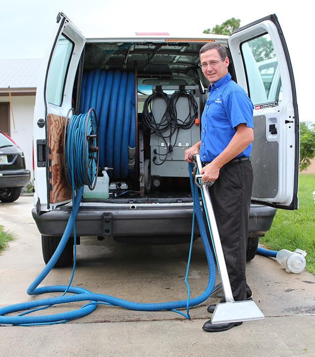 We Use A Professional Truck Mounted Steam Carpet Cleaning System