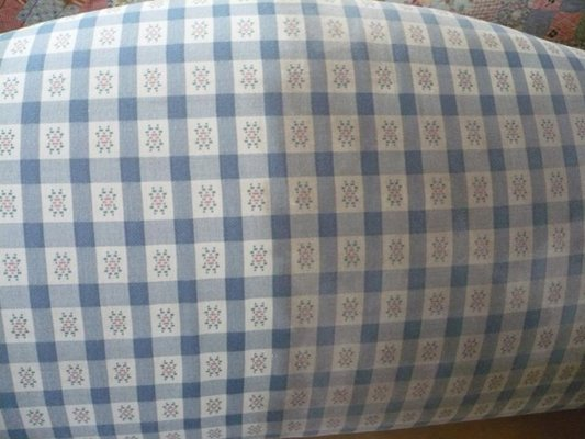 Upholstery cleaning results on light fabric
