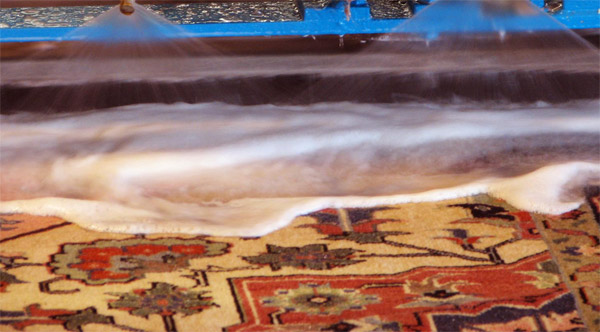 specialized Oriental rug cleaning process treats fibers gently and cleans thoroughly